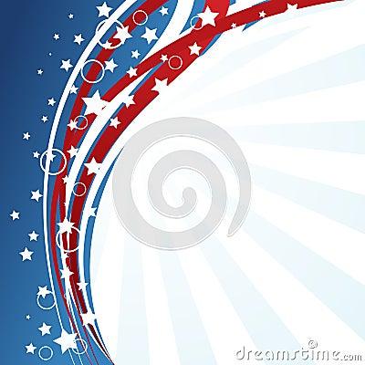 De vlagachtergrond van de V.S.