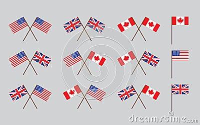 De vlaggen van de vriendschap