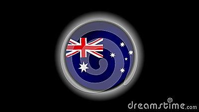 De vlagknoop van Australi? op zwarte wordt ge?soleerd die vector illustratie