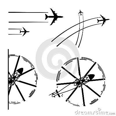 De vliegtuigen van het vervoer