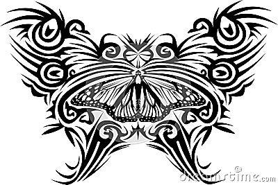 De vlinder van de tatoegering