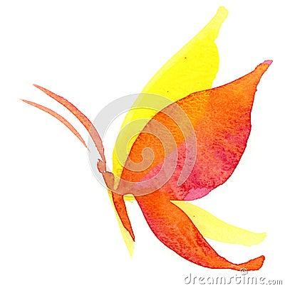 De vlinder van Watercolour