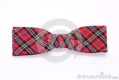 De Vlinderdas van het geruite Schotse wollen stof