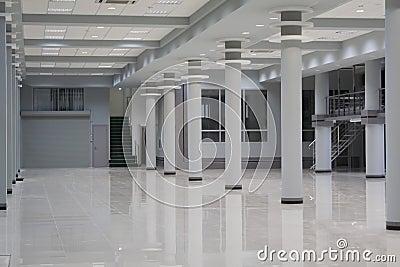 De vloer van de winkel