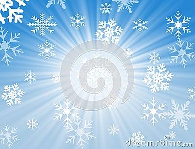 De vlokontwerp van de sneeuw