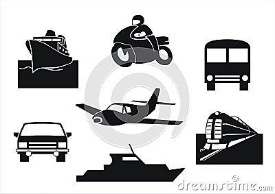 De voertuigen van het vervoer