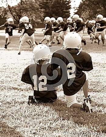 De voetbal van de jeugd