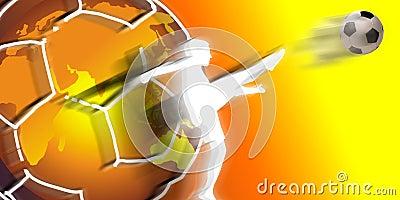 De voetbalster van wereldklasse