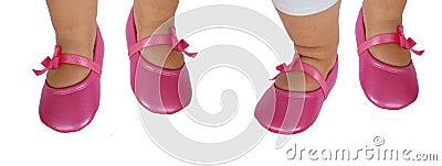 De voeten/de schoenen van de baby