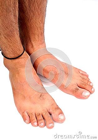 De voeten van mensen