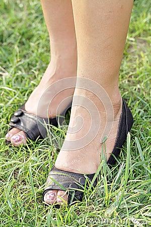 De voeten van vrouwen