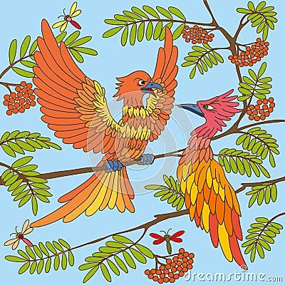 De vogels zingen liederen. Naadloze textuur.