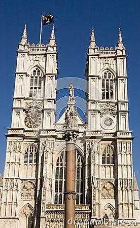 De voorzijde van de Abdij van Westminster