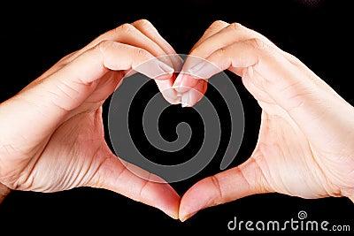 De vorm van de liefde van het hart