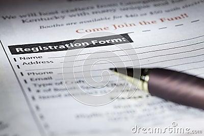 De vorm van de registratie