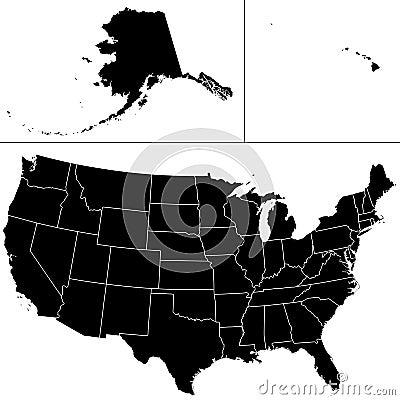 De vorm van de V.S.