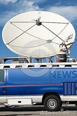 De Vrachtwagen van het nieuws