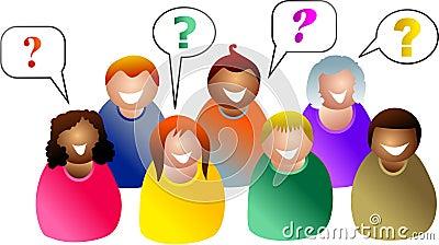 De vragen van de groep