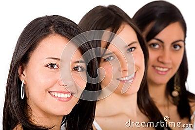 De vrienden van het meisje