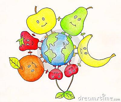 De vrienden van vruchten