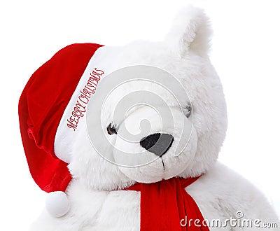 De vrolijke Teddybeer van Kerstmis