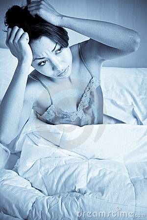 De vrouw van de slapeloosheid