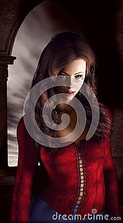 De vrouw van de vampier