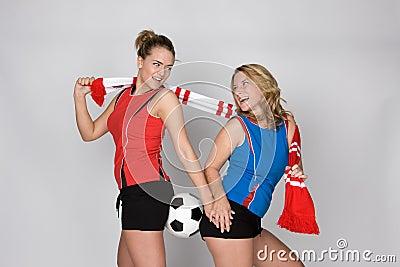 De vrouw van het voetbal