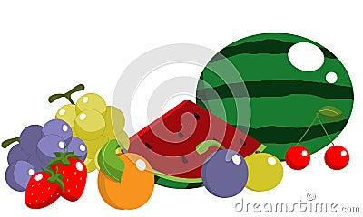 De vruchten van de zomer