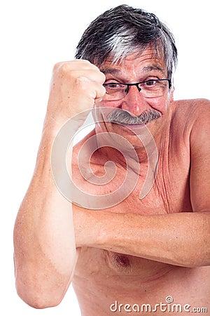 De vuist van de mens het gesturing