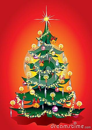 De warme boom van Kerstmis.