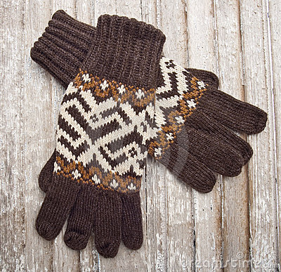 De warme Handschoenen van de Winter