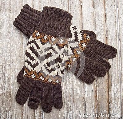 De warme Handschoenen van de Winter