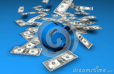 De Waterval van de Besparingen van Piggybank