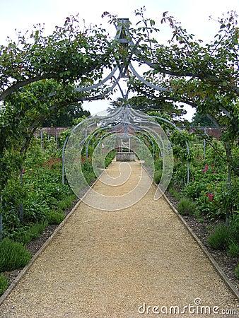 De weg van de tuin