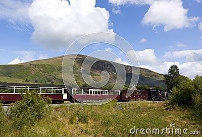 De Welse uitstekende spoorweg van het Hoogland