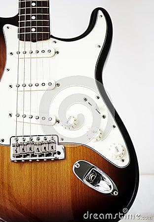 De wijnoogst van de gitaar stratocaster