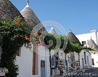 De Winkels van de Herinnering van Alberobello, Italië Redactionele Fotografie