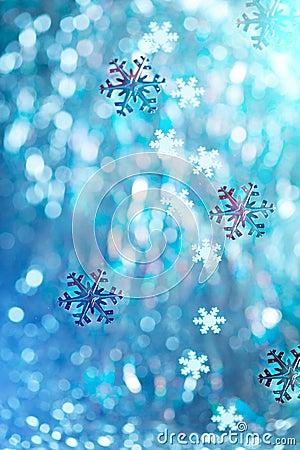 De winterachtergrond
