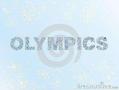 De winterolympics van de sneeuw