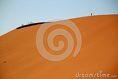 De woestijn Afrika van Namibië