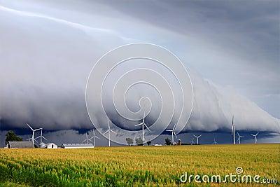 De wolk van de plank in Illinois