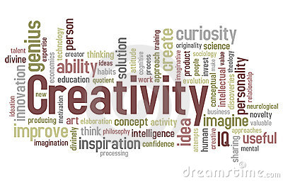 De Wolk van Word van de creativiteit