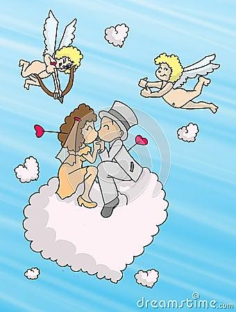 De wolken van de liefde