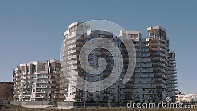 De wooneenheden van Milan City Life stock video