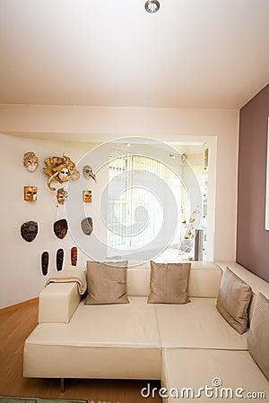 De woonkamer van de luxe