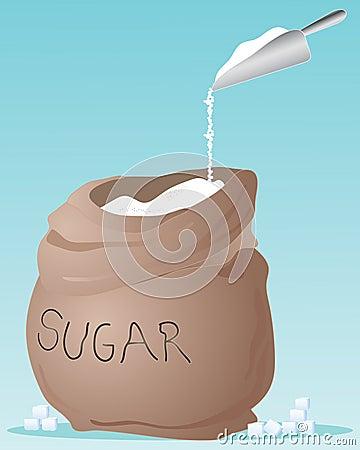 De zak van de suiker