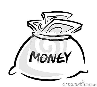 Spelen geld clipart zak