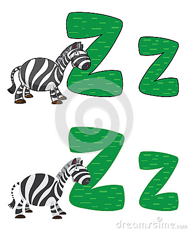 De zebra van de brief Z