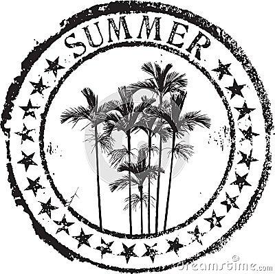 De zegel van de zomer